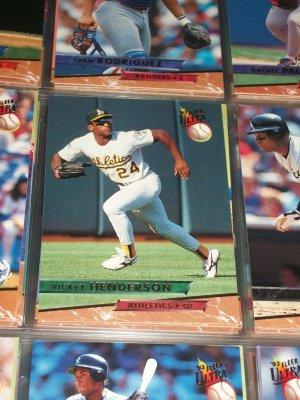 Rickey Henderson 93 Fleer Ultra baseball card