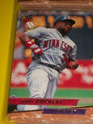 Kirby Puckett 93 fleer ultra baseball card