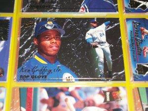 """Ken Griffey jr 93 Fleer Ultra RARE insert """"Top Glove"""" baseball card"""