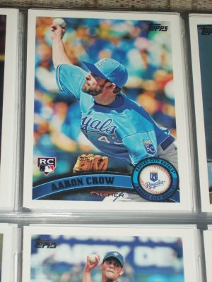 Aaron Crow 2011 Topps Baseball card- Rookie