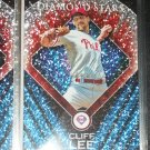 "RARE Cliff Lee 2011 Topps baseball card- ""Diamond Stars"" insert"