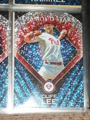"""RARE Cliff Lee 2011 Topps baseball card- """"Diamond Stars"""" insert"""