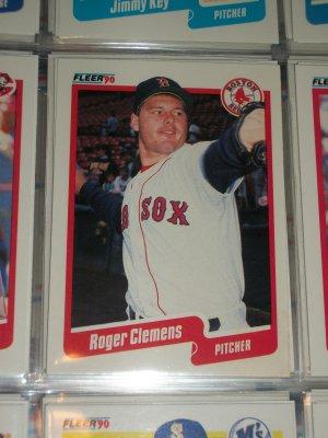 Roger Clemens 1990 Fleer Baseball card