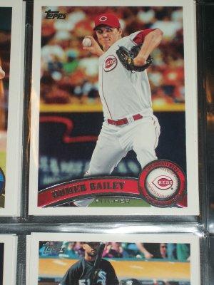 Homer Bailey 2011 Topps Baseball card