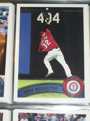 Josh Hamilton 2011 Topps baseball card