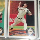 Tim Lincecum 2011 Topps baseball card