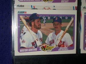 "1990 Fleer Baseball- Super Star Specials ""Boston igniters"" Wade Boggs/Mike Greenwell baseball card"