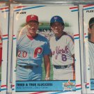 """1988 Fleer Baseball- Super Star Specials """"Tried+True Sluggers"""" Schmidt+Carter baseball card"""