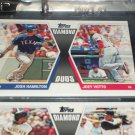 "2011 Topps ""Diamond Duos"" Hamilton+Votto baseball card"