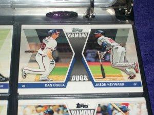 "2011 Topps ""Diamond Duos"" Uggla/Heyward baseball card"