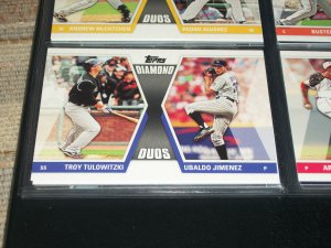 "2011 Topps ""Diamond Duos"" Tulowitzki+Jiminez basball card"
