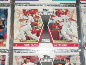"""2011 Topps Halliday/Puljos """"Diamond Duos"""" baseball card"""