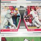 "2011 Topps ""Diamond Duos"" Joey Votto/Jay Bruce baseball card"