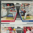 "2011 Topps ""Diamond Duos"" Cliff Lee/C.C. Sabathia baseball card"