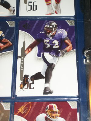 Ray Lewis 2008 UD SP football card