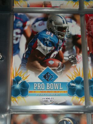 """Terrell Owens 2008 UD SP """"Pro Bowl Performers"""" football card"""
