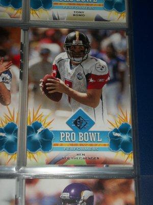 "Ben Roethlisberger 2008 UD SP ""Pro Bowl Performers"" football card"