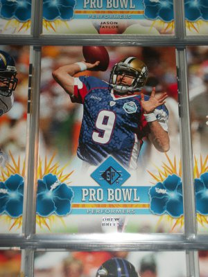 """Drew Brees 2008 UD SP """"Pro Bowl Performers"""" Football Card"""