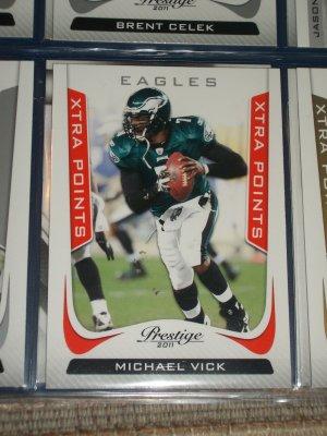 "Michael Vick 2011 Panini Prestige RARE ""Xtrea Points"" INSERT football card"