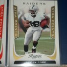 "Jacoby Ford 2011 Panini Prestige RARE LE INSERT ""Xtra Points"" Football card"