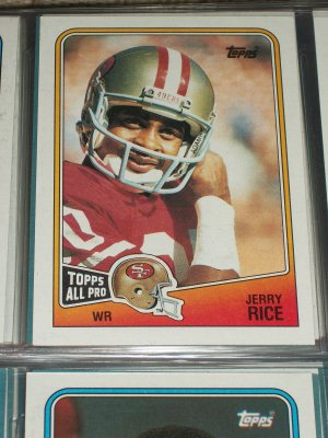 """Jerry Rice RARE 1988 """"Topps All-Pro"""" Football Card"""