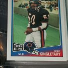 "Mike Singletary 1988 ""Topps All-Pro"" football card"