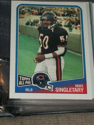 "Mike Singletary 1988 ""Topps All-Pro"" football card"