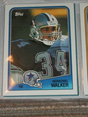 Hershel Walker 1988 Topps Football Cards