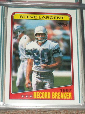 Steve Largent Rare 1988 Topps Quot Record Breakers Quot Football Card