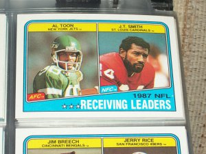 """1988 Topps NFL """"Receiving Leaders"""" FOOTBALL CARDS"""