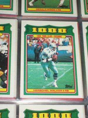 """Herschel Walker 1988 Topps RARE""""1,000 YARD CLUB) Football card"""