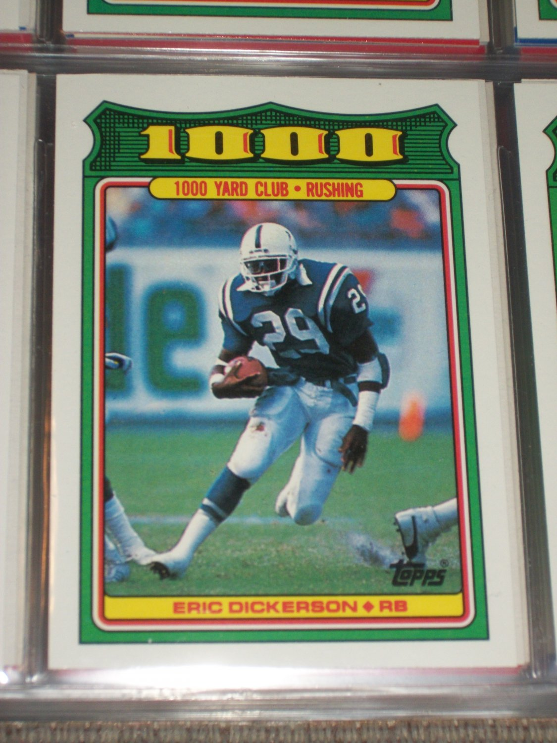 Eric Dickerson 1988 Topps Rare Quot 1 000 Yard Club Quot Football Card