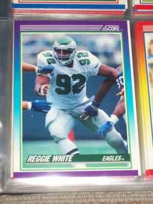 Reggie White 1990 Score Football Card