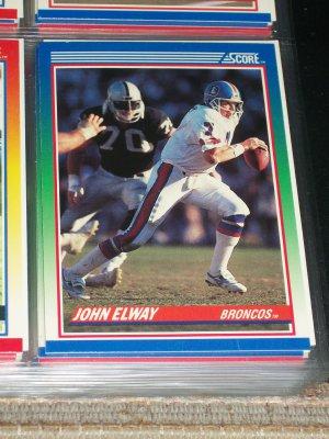 John Elway 1990 Score Football Card