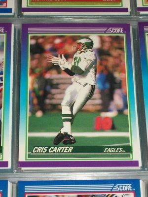 Chris Carter 1990 Score Football Card