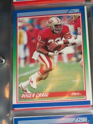 Roger Craig 1990 Score football card