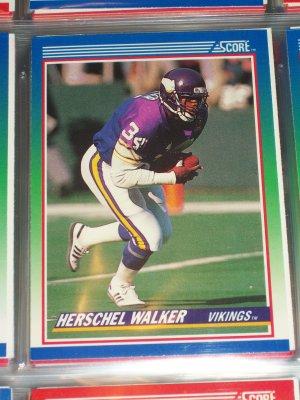 Herschel Walk 1990 Score Football Card