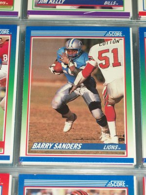 Barry Sanders 1990 Score Football Card
