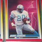"Barry Sanders RARE 1990 Score ""Ground Force"" Football Card"
