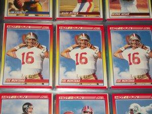 "Joe Montana RARE 1990 Score ""Hot Gun"" Football Card"