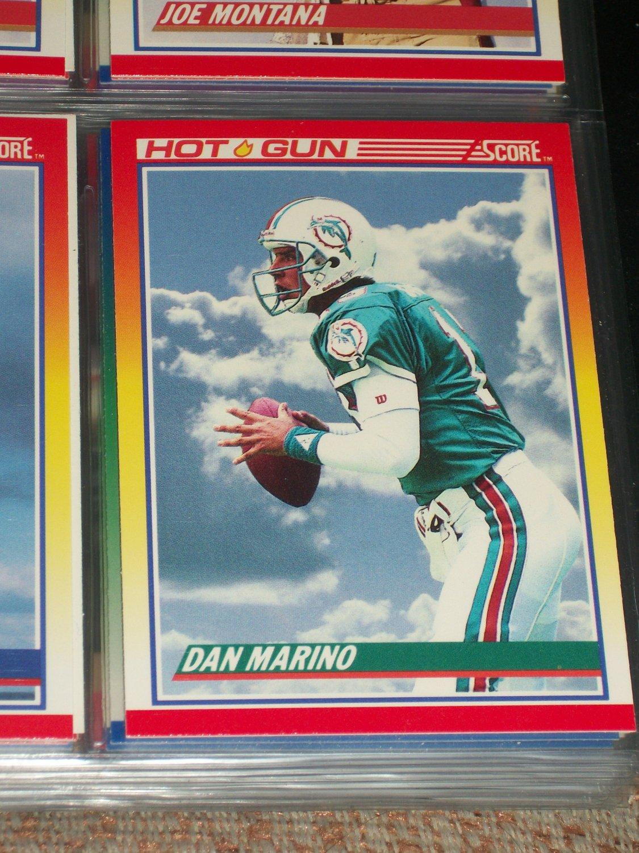 Dan Marino Rare 1990 Score Quot Hot Gun Quot Football Card