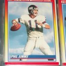 "Phil Simms RARE 1990 Score ""Hot Gun"" Football Card"