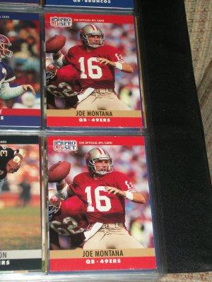 Joe Montana 1990 Pro Set football card