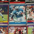 Walker, Sanders, Thomas 1990 Pro Set Football Cards