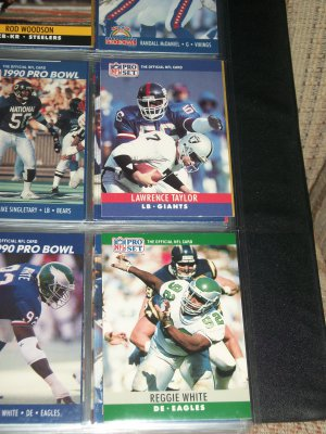 Lawrence Taylor+Reggie White 1990 Pro Set Football Cards