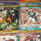 "Bob Griese+Franco Harris 1990 Pro Set ""Hall of Fame Selection"" Football Cards"