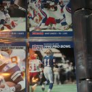 "Jerry Rice+Barry Sanders 1990 Pro Set ""Pro Bowl"" Football Cards"