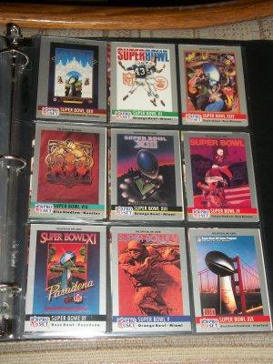 "RARE 1990 Pro Set ""Super Bowl Site"" Football Cards- Pick 3"