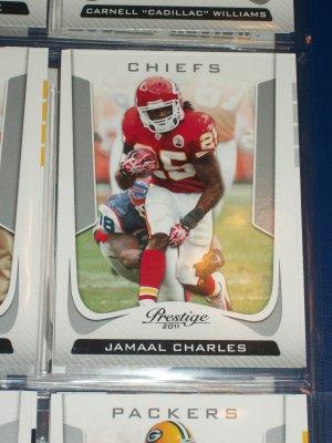 Jamaal Charles 2011 Panini Prestige football card