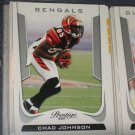 Chad Johnson 2011 Panini Prestige Football Card